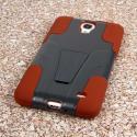 Samsung Galaxy Mega 2 - Sandstone / Gray MPERO IMPACT X - Kickstand Case Angle 3