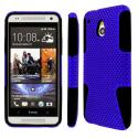 HTC One Mini- BLUE / BLACK MPERO FUSION M - Protective Case Cover Angle 1