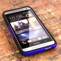 HTC One Mini- BLUE / BLACK MPERO FUSION M - Protective Case Cover Angle 2