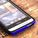 HTC One Mini- BLUE / BLACK MPERO FUSION M - Protective Case Cover Angle 5