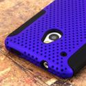 HTC One Mini- BLUE / BLACK MPERO FUSION M - Protective Case Cover Angle 6