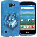 LG Spree Optimus Zone 3 VS425 K4 Wolf TPU Design Soft Rubber Case Cover Angle 1
