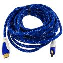 HDTV PS3 PS4 Xbox 360 Xbox One DVD 25ft Blue Mesh HDMI Cable 1.4 High Speed Angle 1