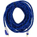 HDTV PS3 PS4 Xbox 360 Xbox One DVD 25ft Blue Mesh HDMI Cable 1.4 High Speed Angle 2