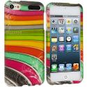 Apple iPod Touch 5th 6th Generation Candy Bar Hard Rubberized Design Case Cover Angle 1
