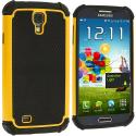 Samsung Galaxy S4 Yellow Hybrid Rugged Hard/Soft Case Cover Angle 2