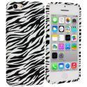 Apple iPhone 5C Black White Zebra TPU Design Soft Case Cover Angle 1