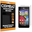 LG Lucid VS840 Combat 6 Pack Anti-Glare Matte Screen Protector Angle 1