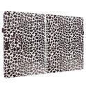 Microsoft Surface Pro 3 Design Leopard Purple Folio Pouch Flip Case Cover Stand Angle 2