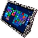 Microsoft Surface Pro 3 Design Leopard Purple Folio Pouch Flip Case Cover Stand Angle 6