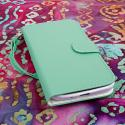 Samsung Galaxy Mega 5.8 - Mint MPERO FLEX FLIP Wallet Case Cover Angle 2