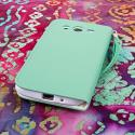 Samsung Galaxy Mega 5.8 - Mint MPERO FLEX FLIP Wallet Case Cover Angle 3