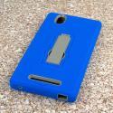 ZTE ZMAX - Blue MPERO IMPACT XS - Kickstand Case Cover Angle 3