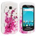 Samsung Doubletime i857 Spring Flowers Design Crystal Hard Case Cover Angle 1