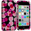 Apple iPhone 5C Hot Pink Bubbles Hard Rubberized Design Case Cover Angle 1