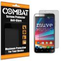 ZTE Engage LT N8000 Combat 6 Pack Anti-Glare Matte Screen Protector Angle 1