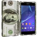 Sony Xperia Z2 Hundred Dollars 2D Hard Rubberized Design Case Cover Angle 1