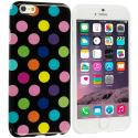 Apple iPhone 6 6S (4.7) Black / Colorful TPU Polka Dot Skin Case Cover Angle 1
