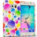 Samsung Galaxy S6 Bubbles TPU Design Soft Rubber Case Cover Angle 1