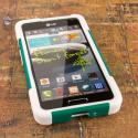 LG Optimus F6 D500 - Teal Green MPERO IMPACT X - Kickstand Case Cover Angle 2