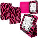 Barnes & Noble Nook Simple Touch Hot Pink Zebra Folio Pouch Case Cover Stand Angle 1