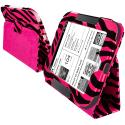 Barnes & Noble Nook Simple Touch Hot Pink Zebra Folio Pouch Case Cover Stand Angle 3