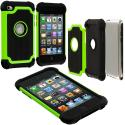 Apple iPod Touch 4th Generation Neon Green Hybrid Rugged Hard/Soft Case Cover Angle 2