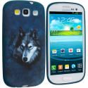 Samsung Galaxy S3 Wolf TPU Design Soft Case Cover Angle 1
