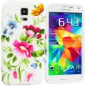 Samsung Galaxy S5 Flower Painting TPU Design Soft Case Cover Angle 1