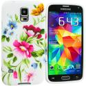 Samsung Galaxy S5 Flower Painting TPU Design Soft Case Cover Angle 2