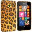 Nokia Lumia 630 635 Leopard Print TPU Design Soft Rubber Case Cover Angle 1
