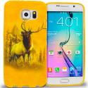 Samsung Galaxy S6 Edge Deer TPU Design Soft Rubber Case Cover Angle 1