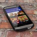 HTC One Mini 2 - Black MPERO FLEX S - Protective Case Cover Angle 2