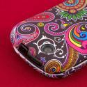 Kyocera Milano - Black Paisley MPERO SNAPZ - Rubberized Case Cover Angle 6