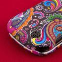 Kyocera Milano - Black Paisley MPERO SNAPZ - Rubberized Case Cover Angle 7