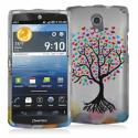 Pantech Discover Love Tree on White Hard Rubberized Design Case Cover Angle 1