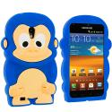 Samsung Epic Touch 4G D710 Sprint Galaxy S2 Blue Monkey Silicone Design Soft Skin Case Cover Angle 1
