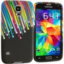 Samsung Galaxy S5 Rainbow Stars TPU Design Soft Case Cover Angle 2