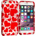 Apple iPhone 6 Plus Hearts w Different Shapes 2D Hard Rubberized Design Case Cover Angle 1