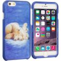 Apple iPhone 6 6S (4.7) Polar Bear 2D Hard Rubberized Design Case Cover Angle 1