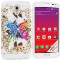 LG Volt LS740 Colorful Butterfly TPU Design Soft Rubber Case Cover Angle 1