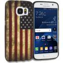 Samsung Galaxy S7 USA Flag TPU Design Soft Rubber Case Cover Angle 1