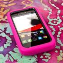 Alcatel OneTouch Evolve - Hot Pink MPERO IMPACT XL - Kickstand Case Cover Angle 2