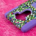 LG G4 - Purple Rainbow Leopard MPERO IMPACT X - Kickstand Case Cover Angle 6