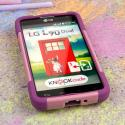 LG Optimus L90 - Pink MPERO IMPACT X - Kickstand Case Cover Angle 2