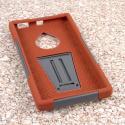 Nokia Lumia 830 - Sandstone / Gray MPERO IMPACT X - Kickstand Case Cover Angle 2