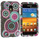 Samsung Epic Touch 4G D710 Sprint Galaxy S2 Bubbles Bling Rhinestone Case Cover Angle 1