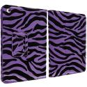 Apple iPad Mini Purple Zebra Folio Pouch Case Cover Stand Angle 2