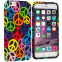 Apple iPhone 6 Plus 6S Plus (5.5) Peace Sign TPU Design Soft Rubber Case Cover Angle 1