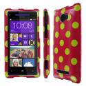 HTC Windows Phone 8X MPERO Full Protection Electric Lemonade Polka Dot Case Angle 1